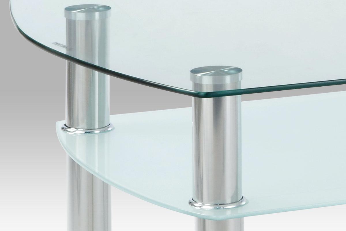 Konferenční stolek Boris, 100 cm, čiré sklo