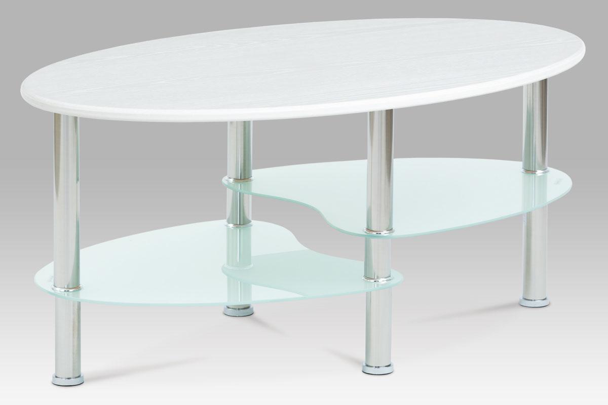 Konferenční stolek Boris, 90 cm, mléčné sklo