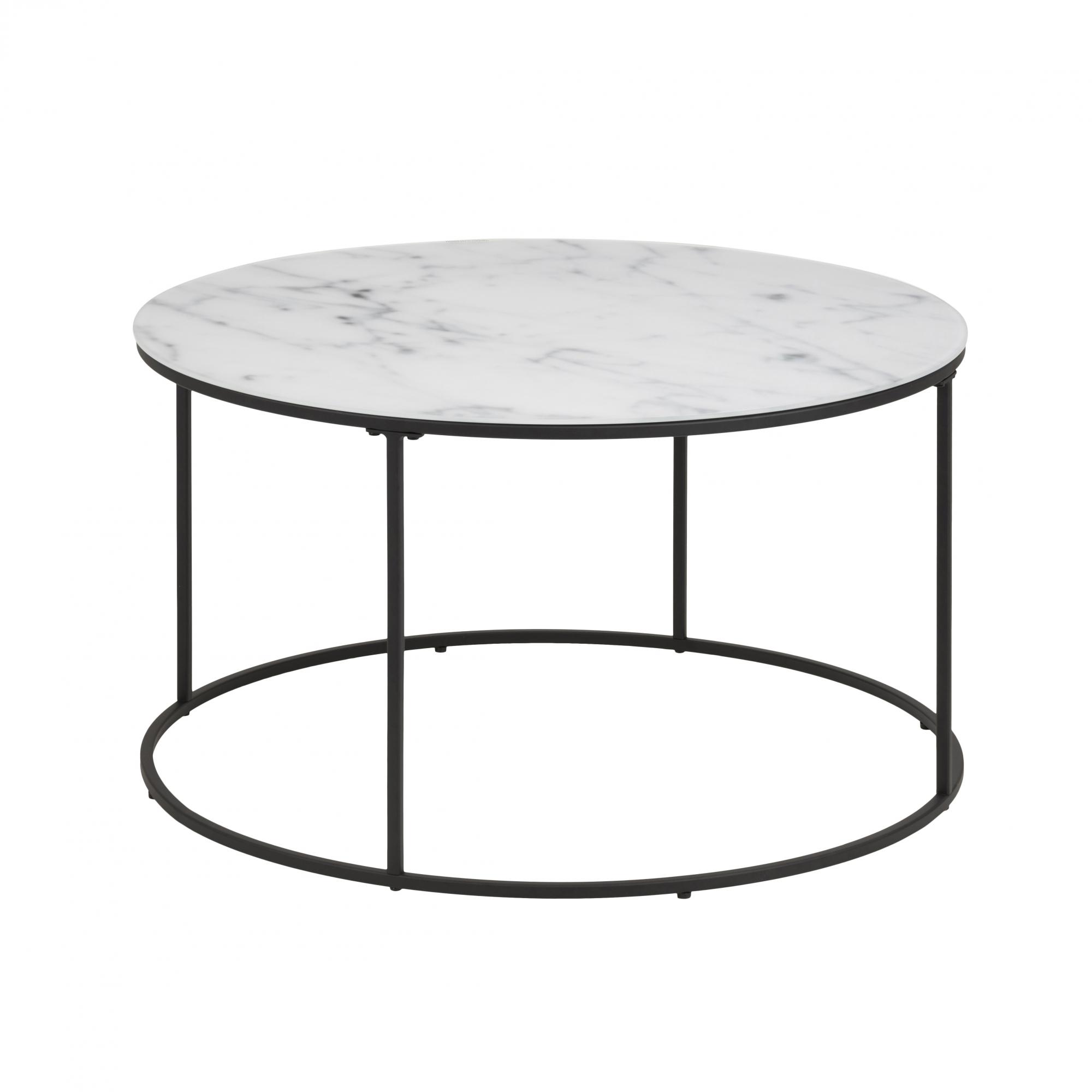 Konferenční stolek Boston 2, 80 cm, sklo/černá