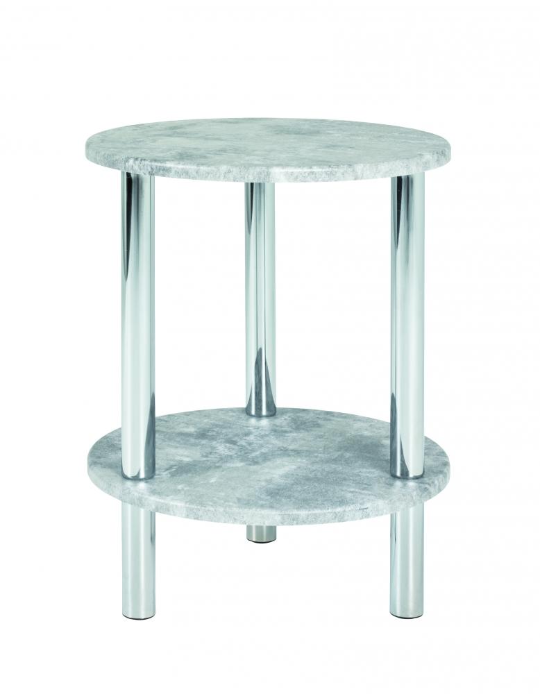 Konferenční stolek Brant, 47 cm, beton / chrom