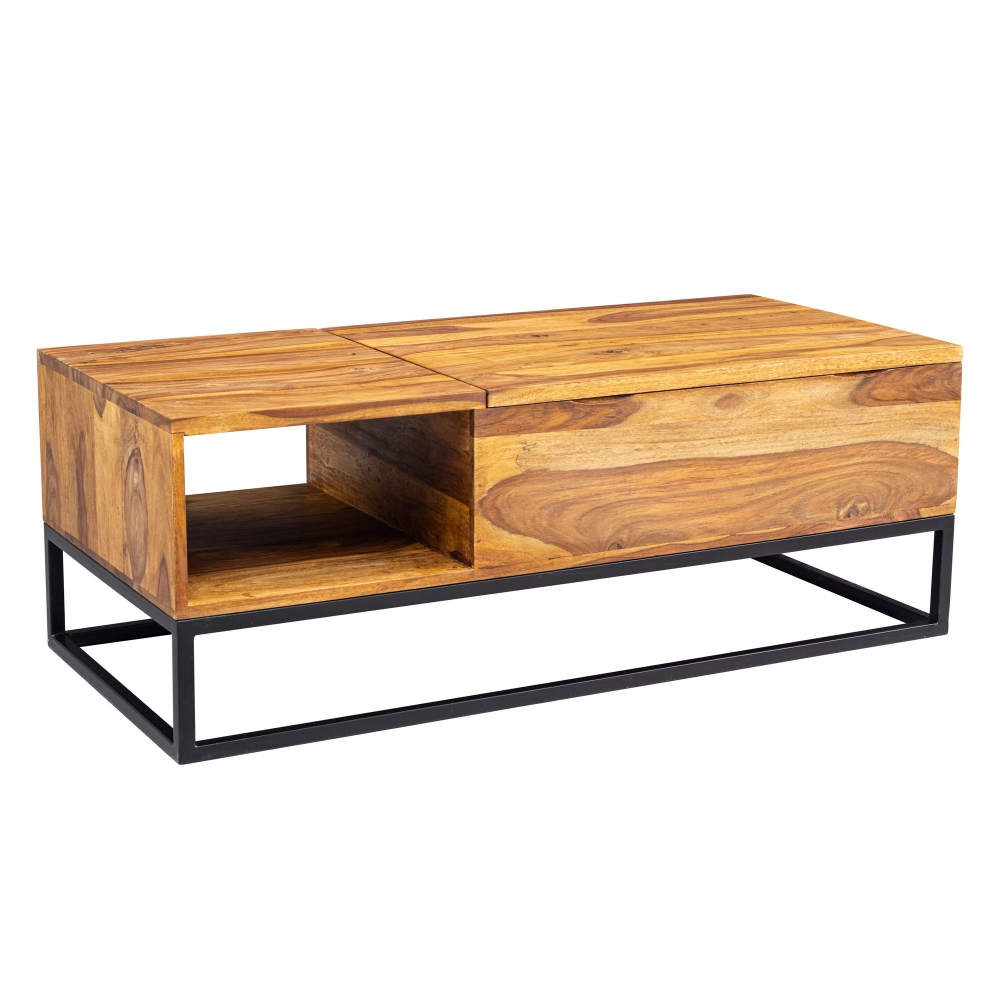 Konferenční stolek Calv, 110 cm, masiv Sheesham