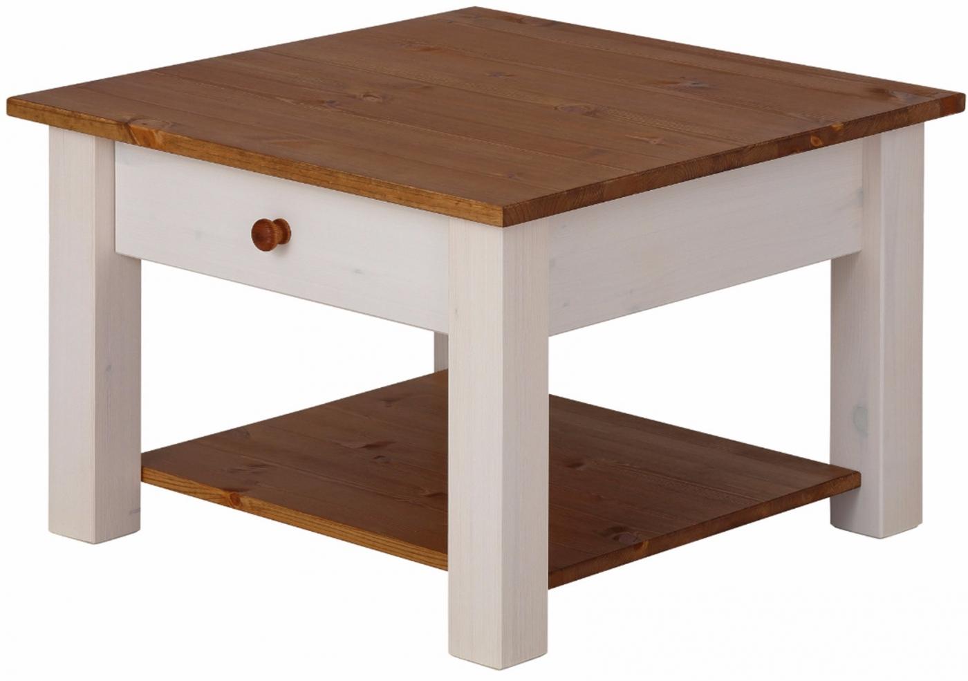 Konferenční stolek Chico, 60 cm, bílá / borovice