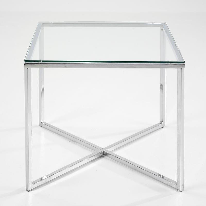 Konferenční stolek Claire hranatý, čirá