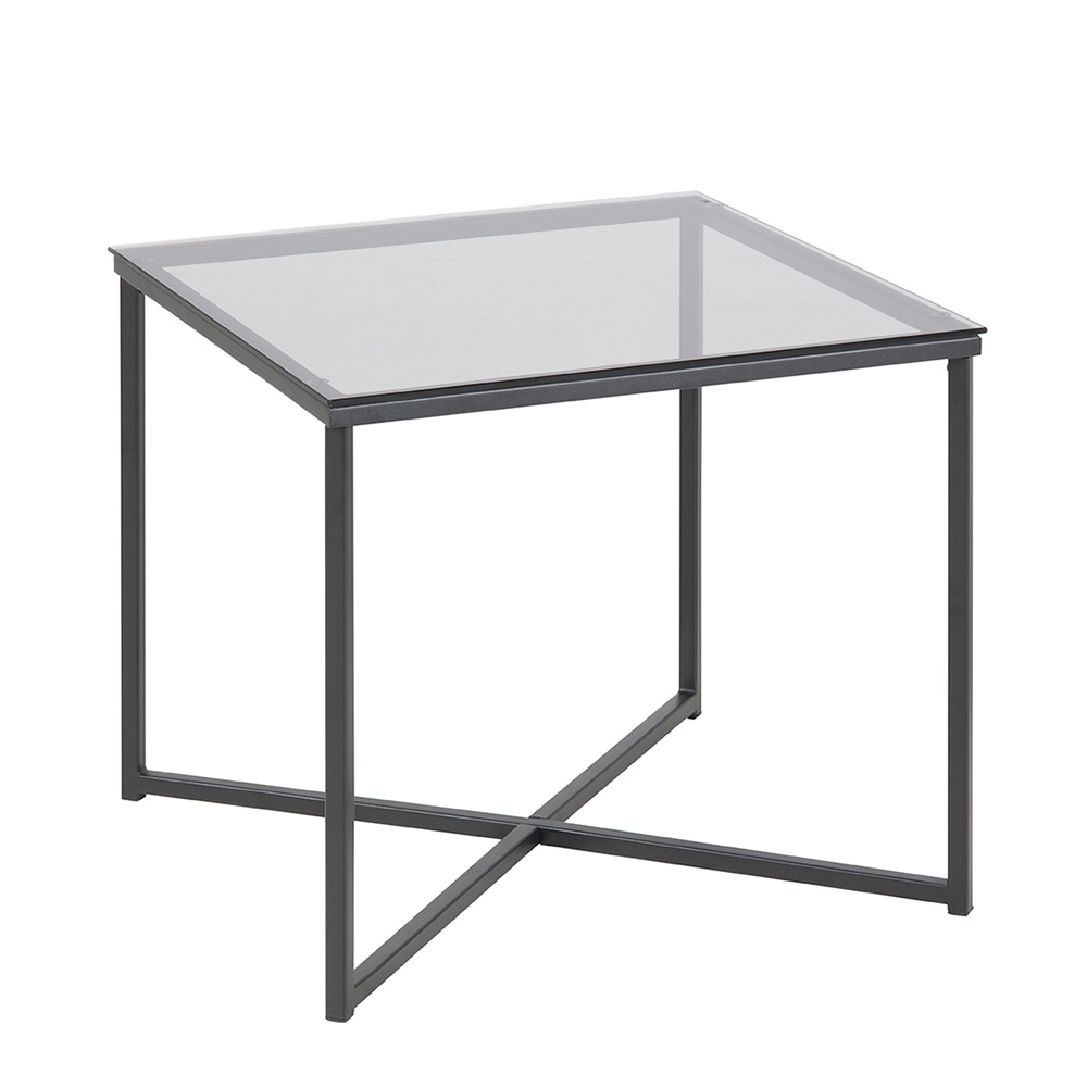 Konferenční stolek Claire hranatý, kouřová/černá