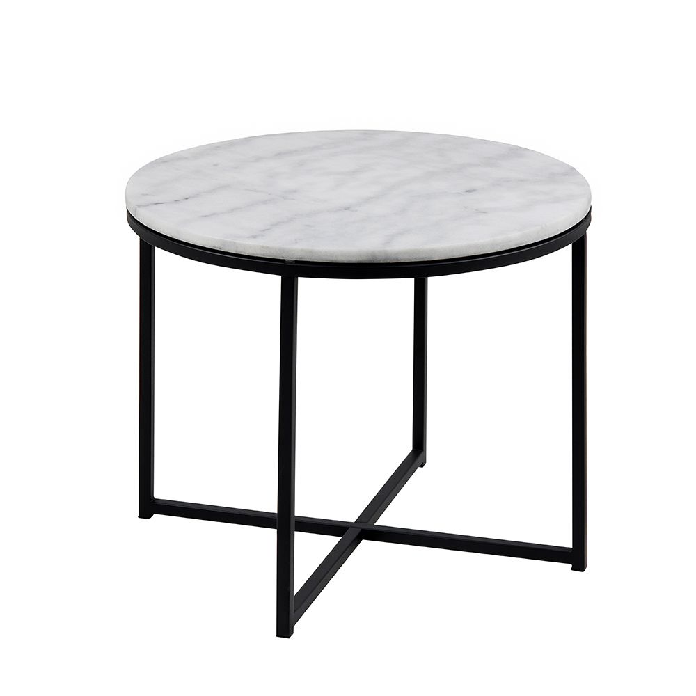 Konferenční stolek Claire kulatý, 55 cm, mramor