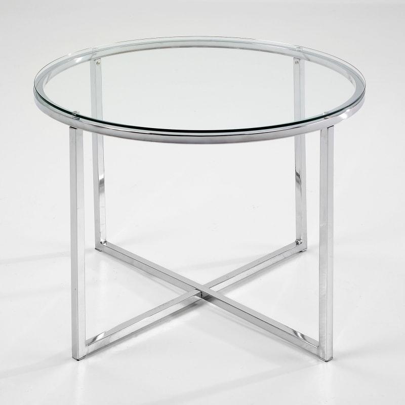 Designovu00fd konferenu010dnu00ed stolek sklenu011bnu00fd Claire kulatu00fd, u010diru00e1 ...