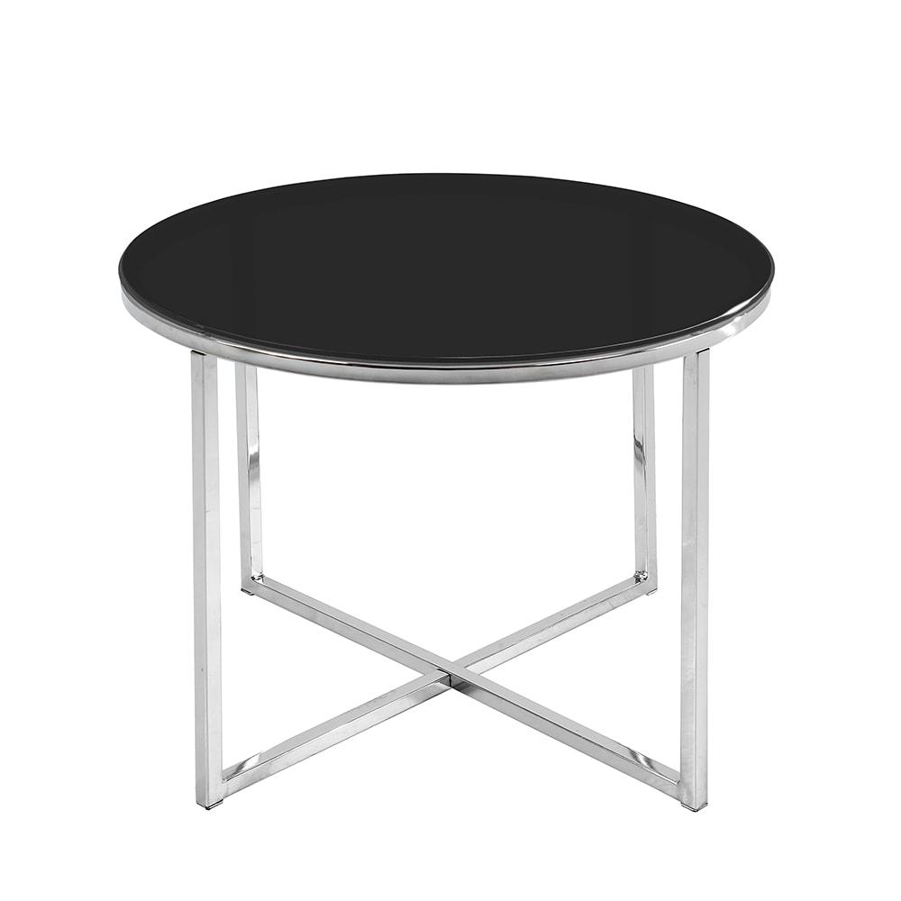 Konferenční stolek Claire kulatý, černá
