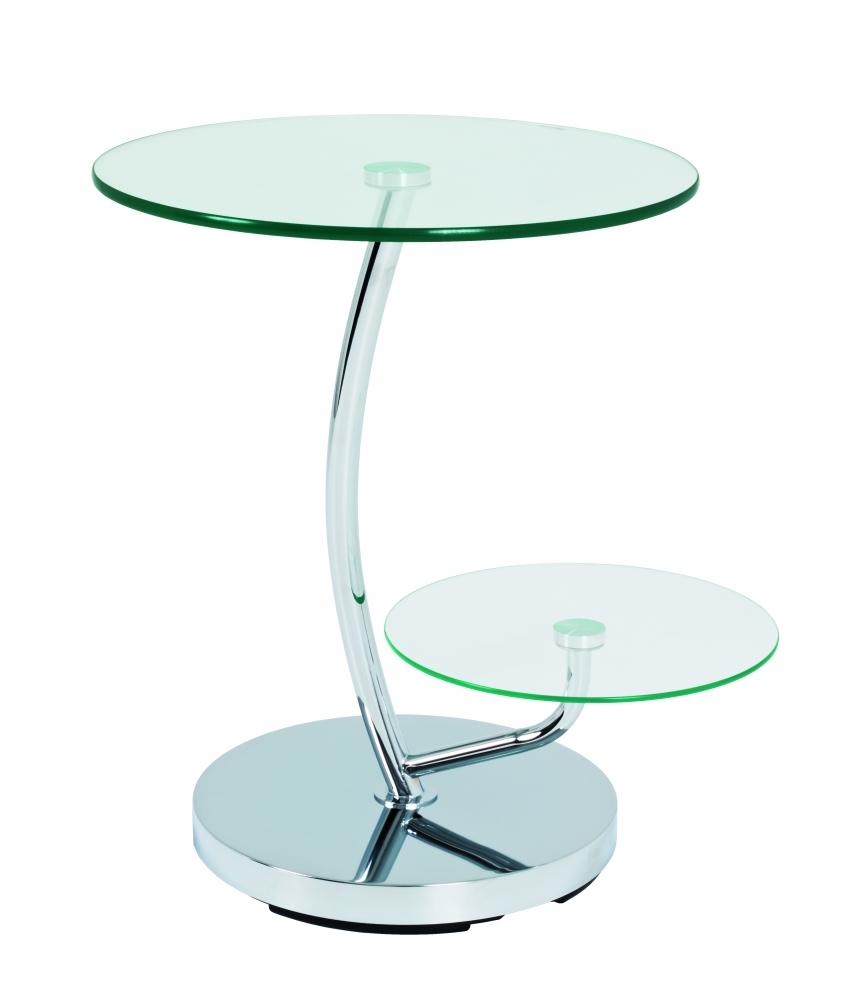 Konferenční stolek Damaro, 55 cm, čirá / chrom
