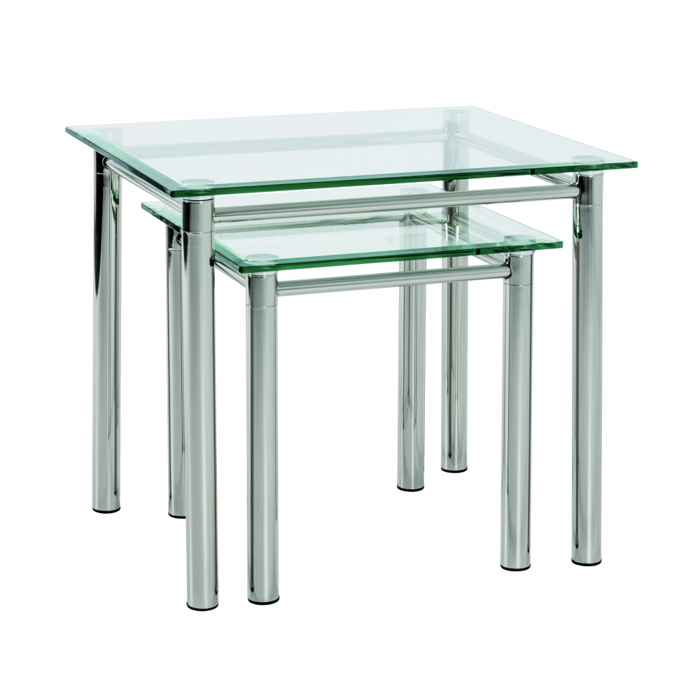 Konferenční stolek Embu, 60 cm, čiré sklo