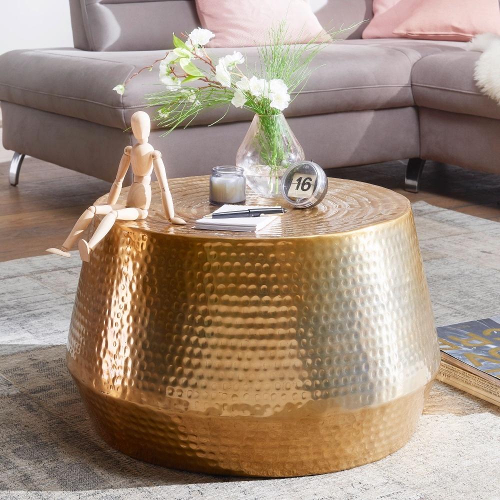 Konferenční stolek Faus, 60 cm, zlatá