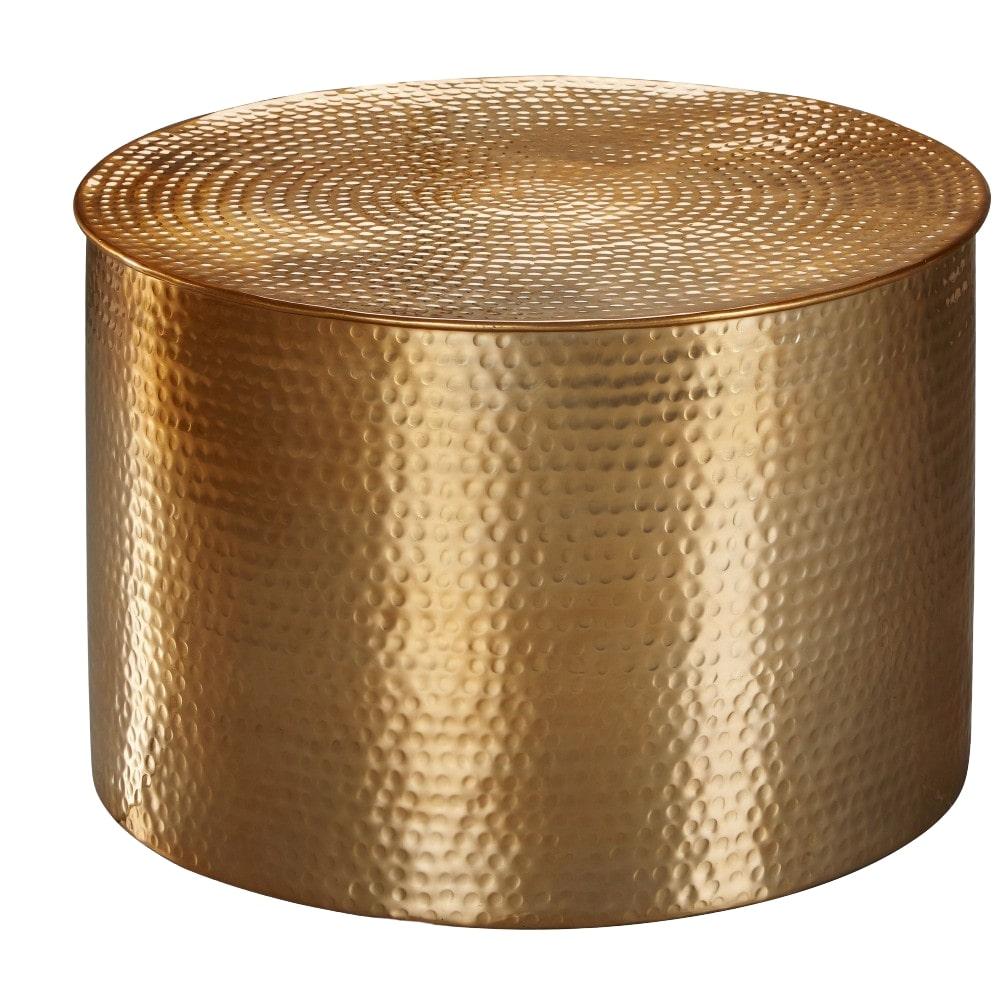 Konferenční stolek Faus, 61 cm, zlatá