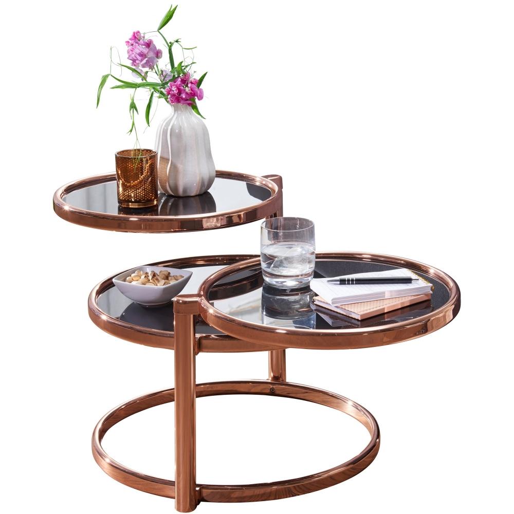 Konferenční stolek Futu, černá / měděná