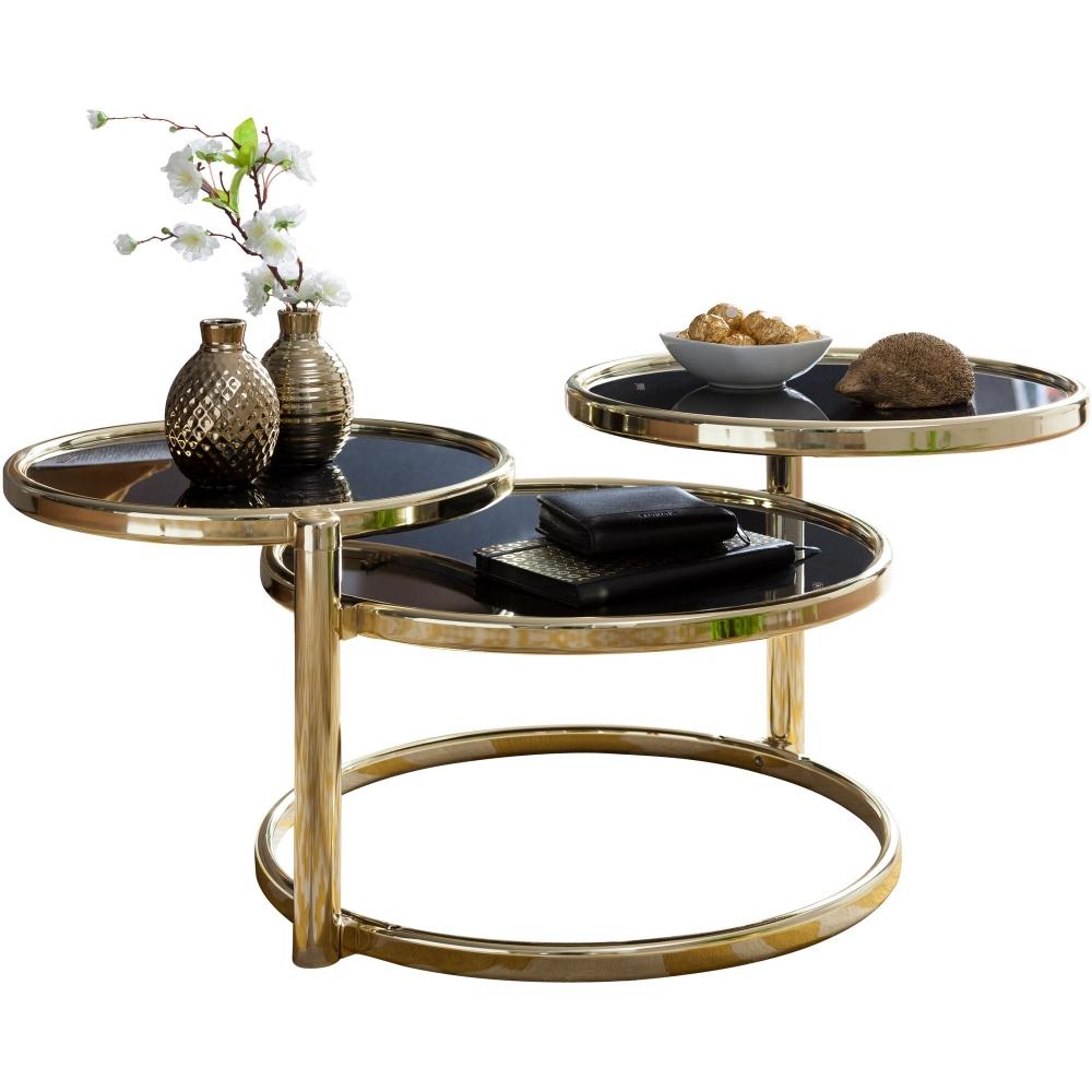 Konferenční stolek Futu, černá / zlatá