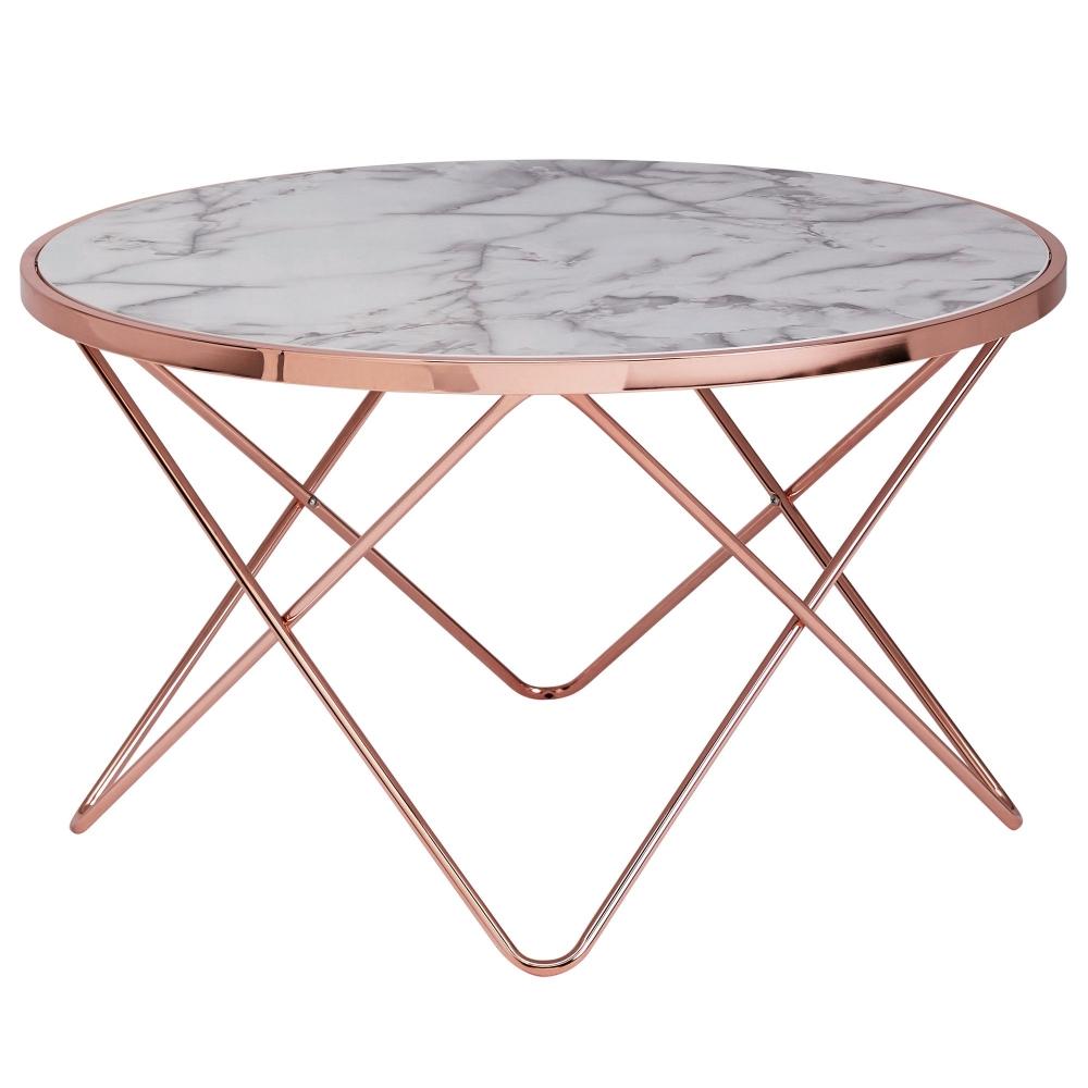 Konferenční stolek Galla, 85 cm, měděná