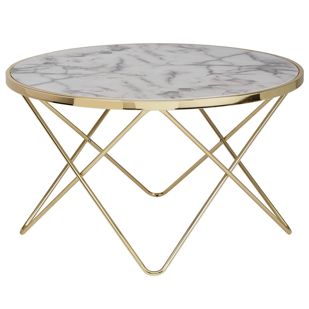 Konferenční stolek Galla, 85 cm, zlatá