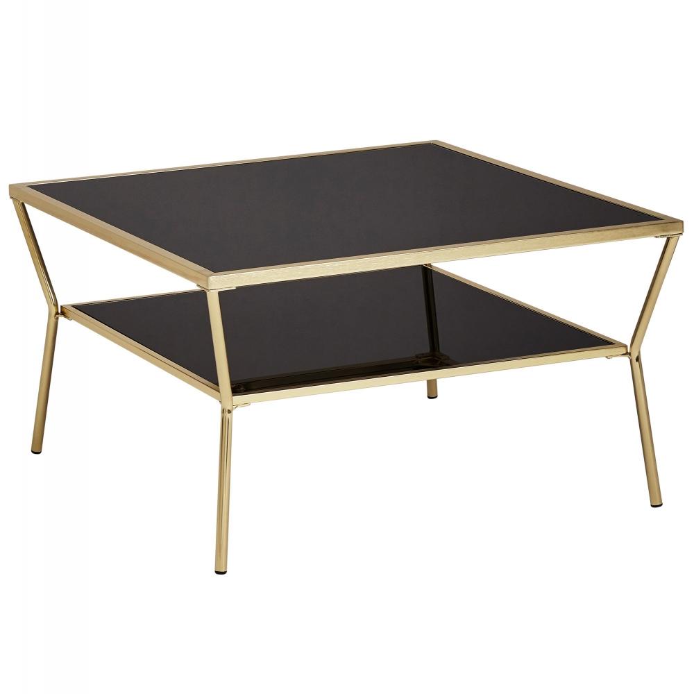Konferenční stolek Gise, 70 cm, černá / zlatá