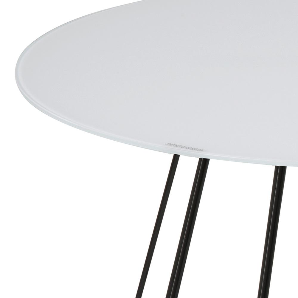 Konferenční stolek Goldy, 80 cm, černá/bílá