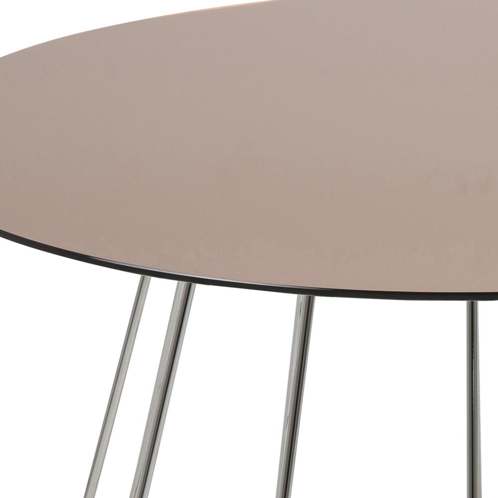 Konferenční stolek Goldy, 80 cm, chrom/bronz
