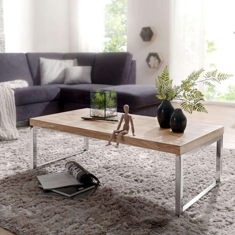 Konferenční stolek Guna, 120 cm, masiv akát
