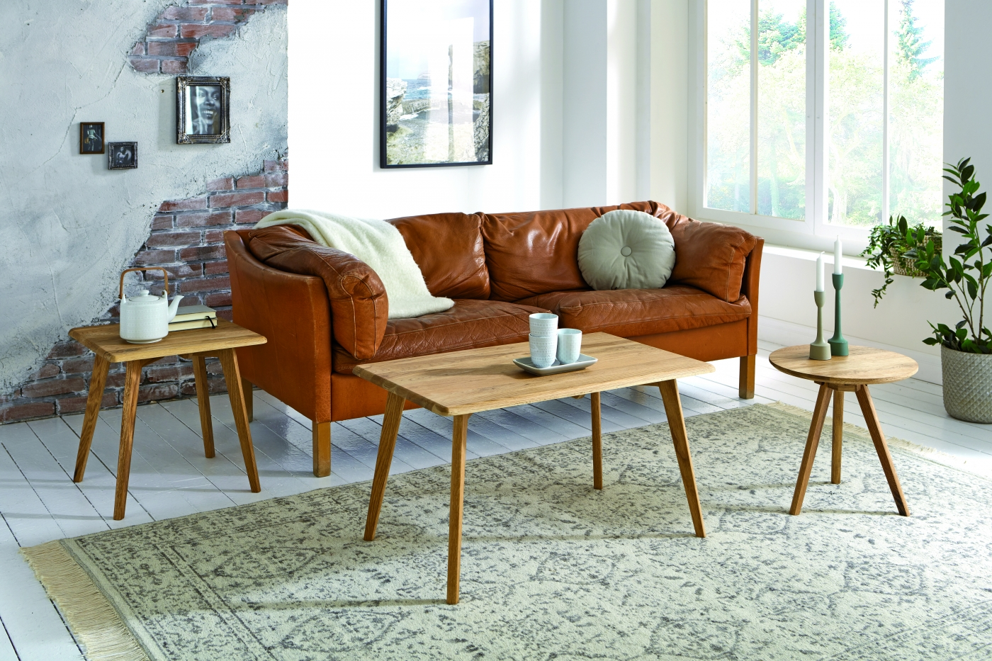 Konferenční stolek Hanzel, 80 cm