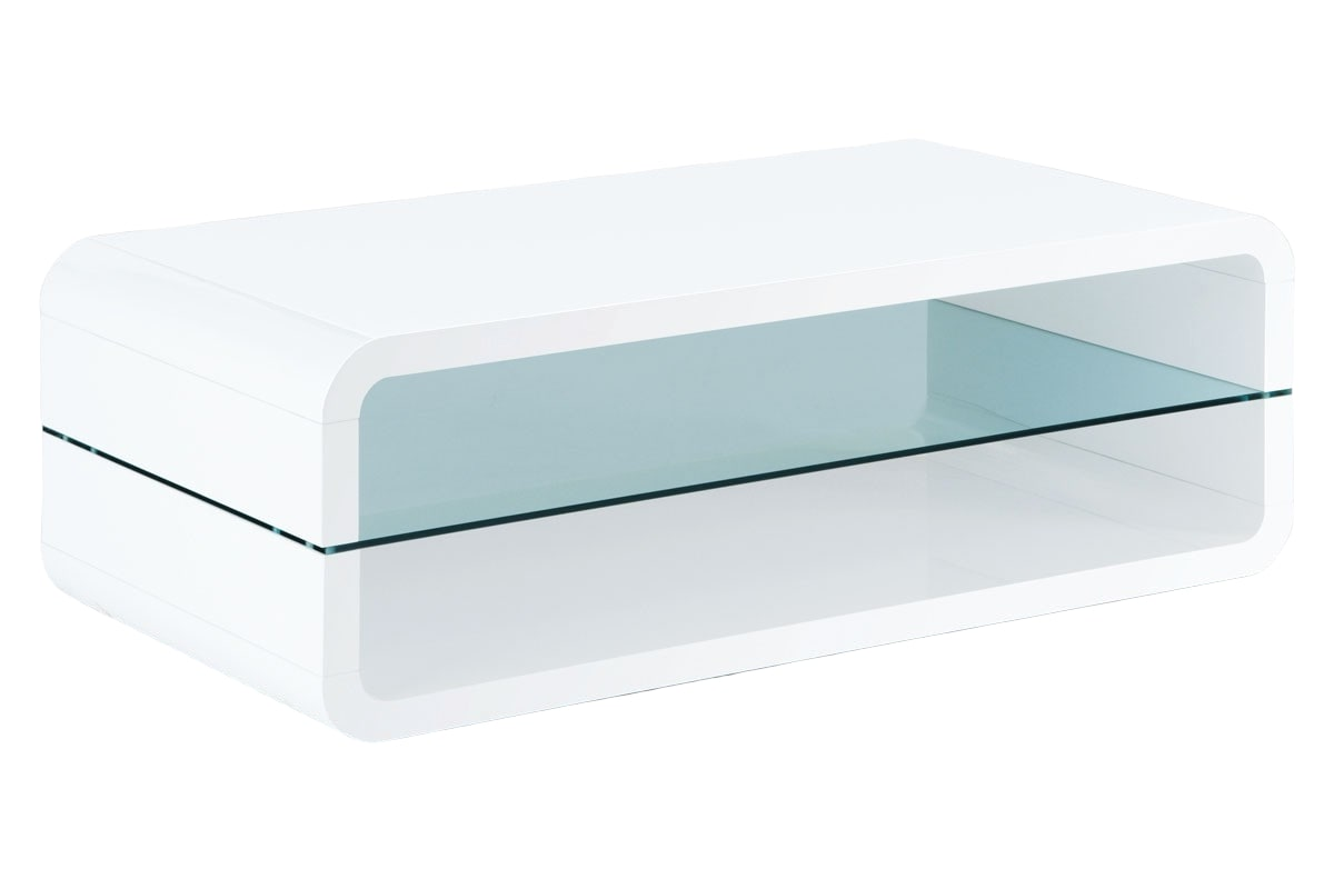 Konferenční stolek Herman, 120 cm, bílá