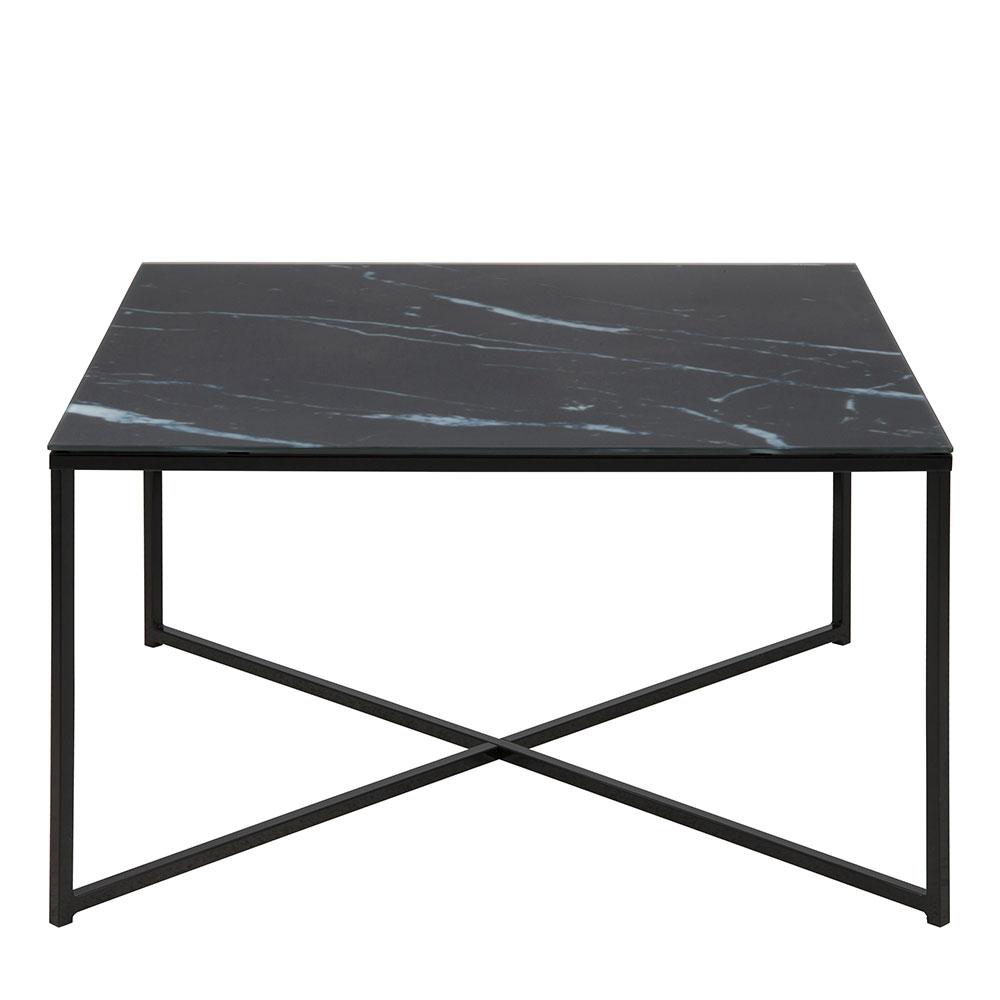 Konferenční stolek hranatý Alma, 80 cm, černá