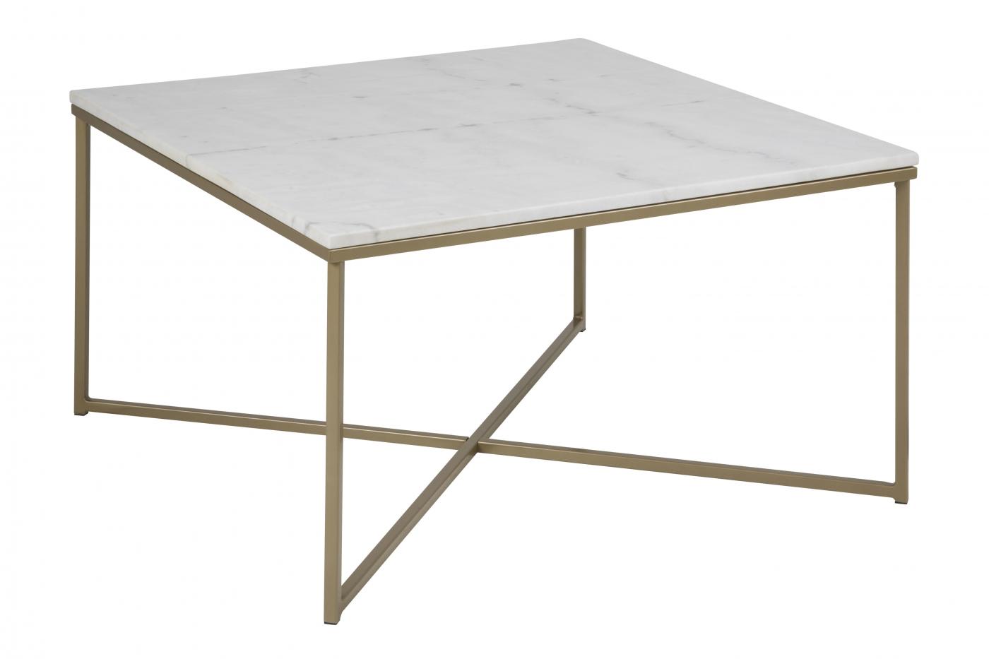 Konferenční stolek hranatý Alma, 80 cm, zlatá