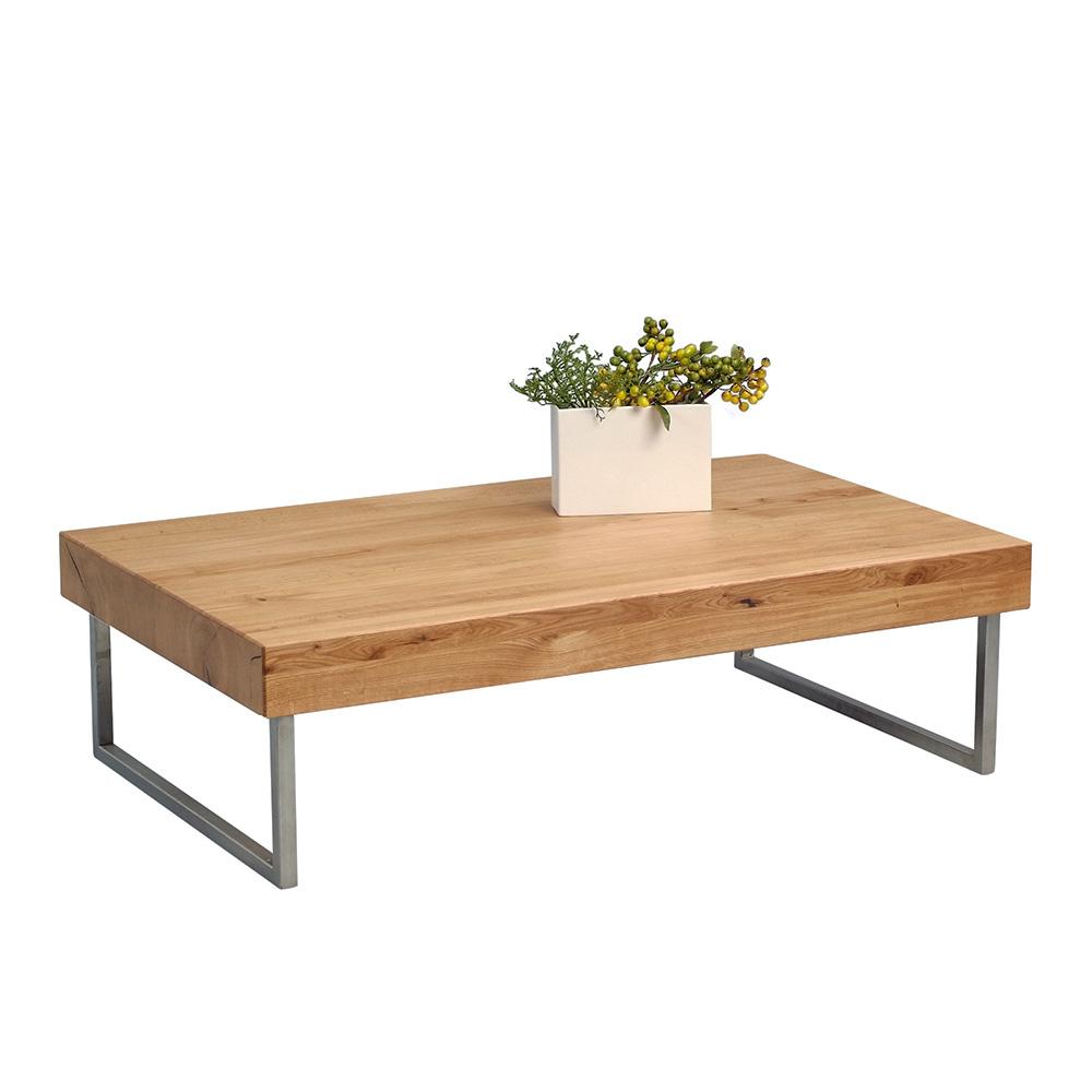 Konferenční stolek Inga, 120 cm, masiv/nerez
