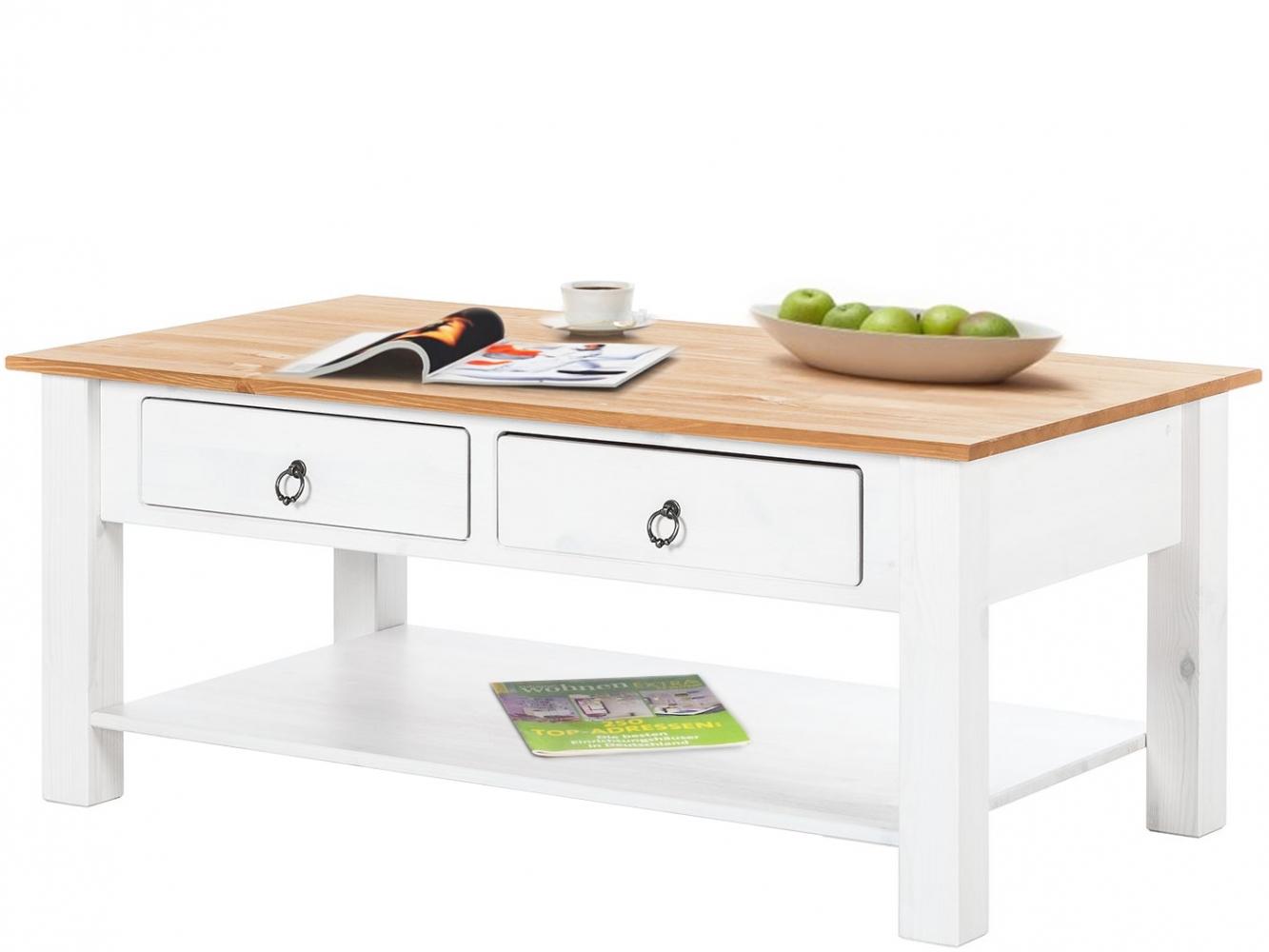 Konferenční stolek Inge, 110 cm, bílá
