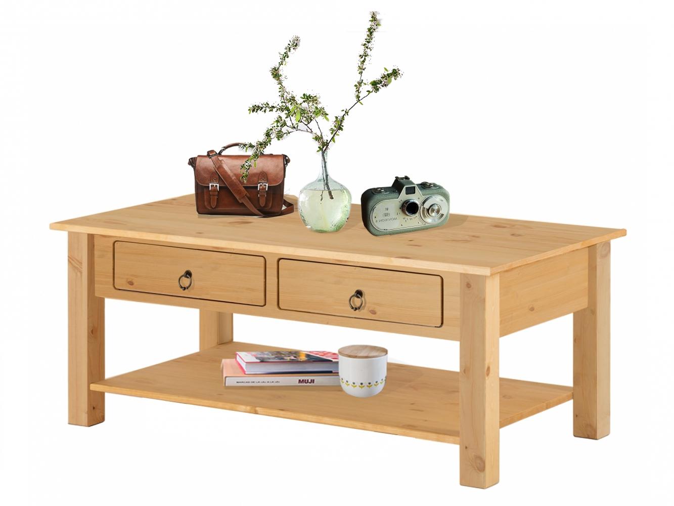 Konferenční stolek Inge, 110 cm, borovice