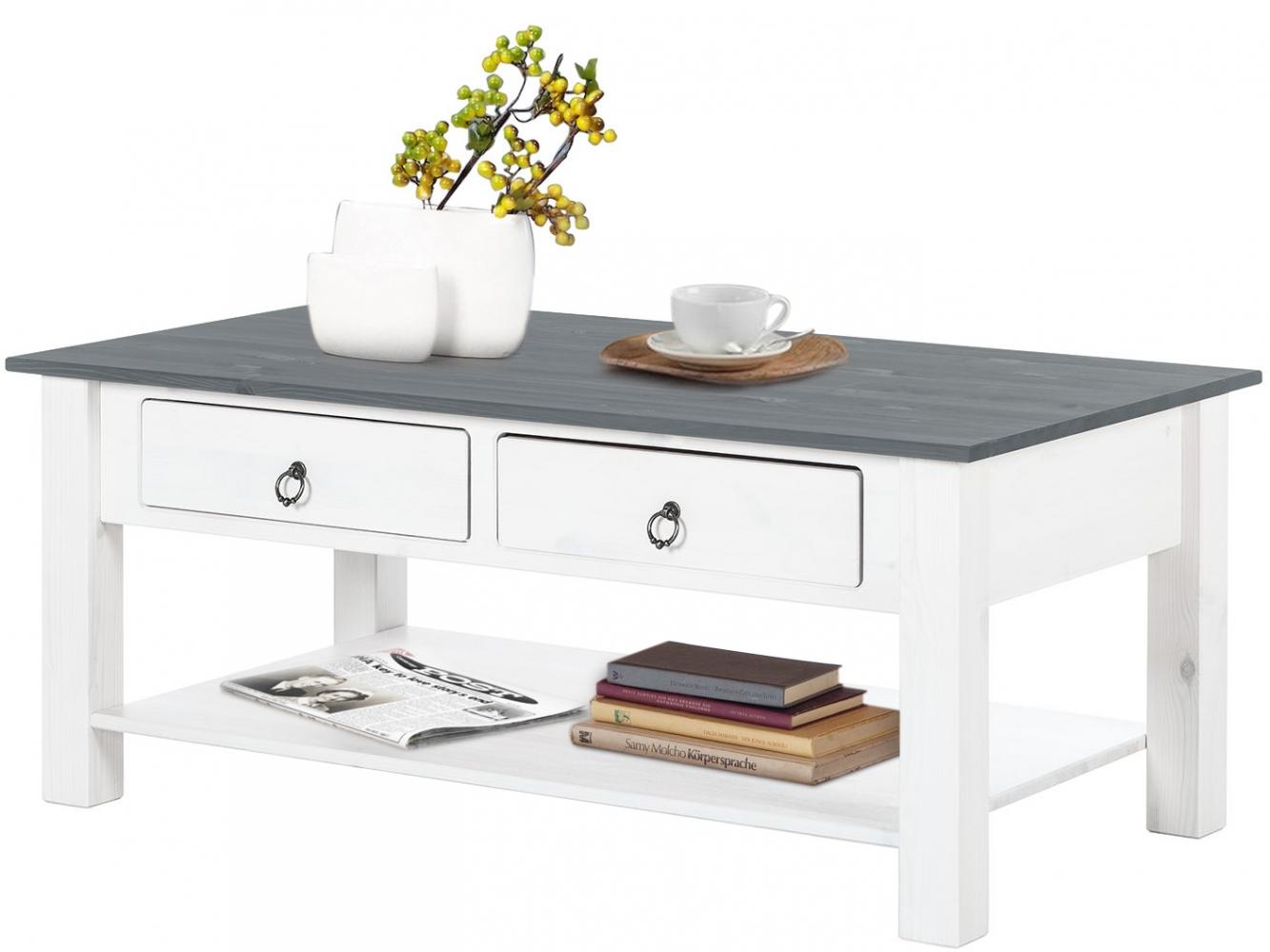 Konferenční stolek Inge, 110 cm, šedá