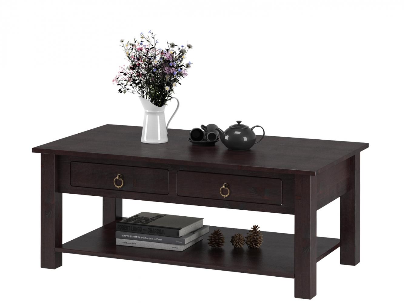 Konferenční stolek Inge, 60 cm, hnědá