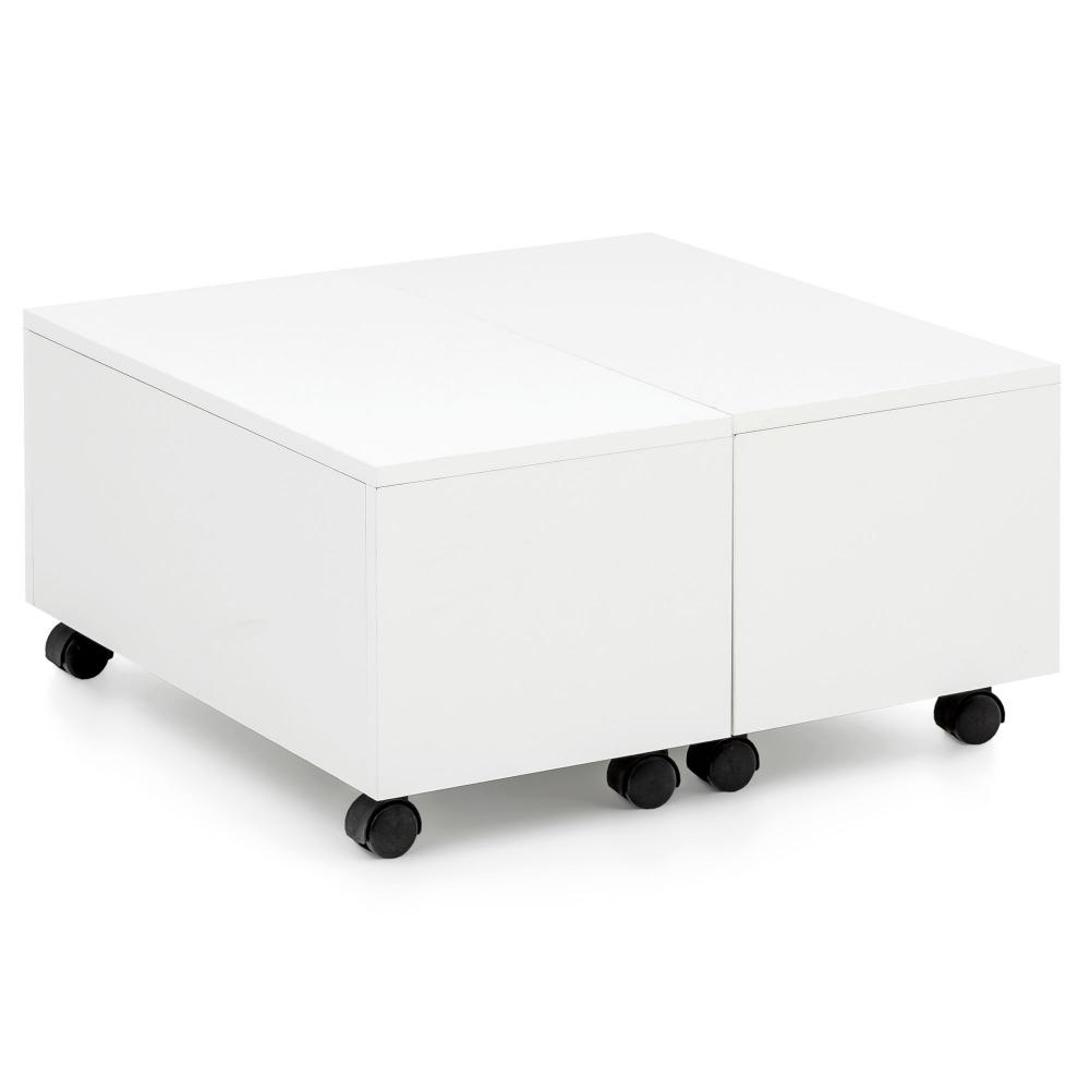 Konferenční stolek Jarl, 60 cm, bílá