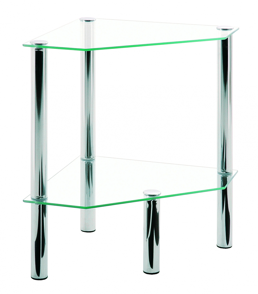 Konferenční stolek Jaydon, 47 cm, čirá / chrom