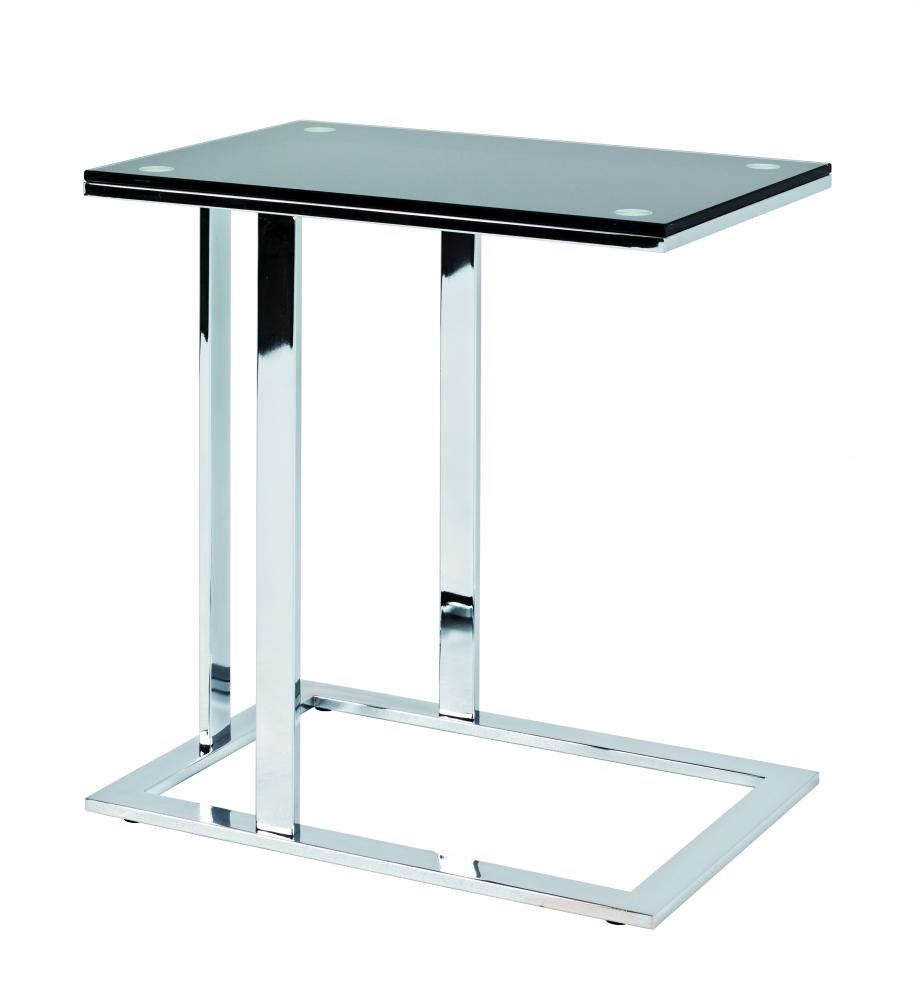 Konferenční stolek Jermaine, 58 cm, černá / chrom