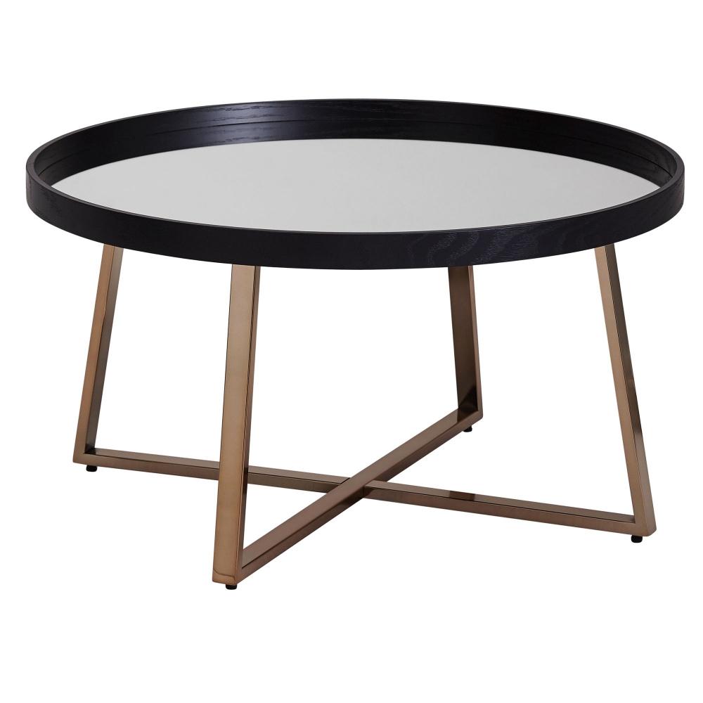 Konferenční stolek Jerry, 78 cm, černá / zlatá