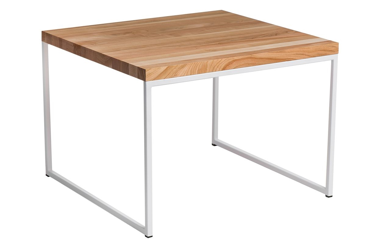 Konferenční stolek Kirse, 45 cm, třešeň/bílá