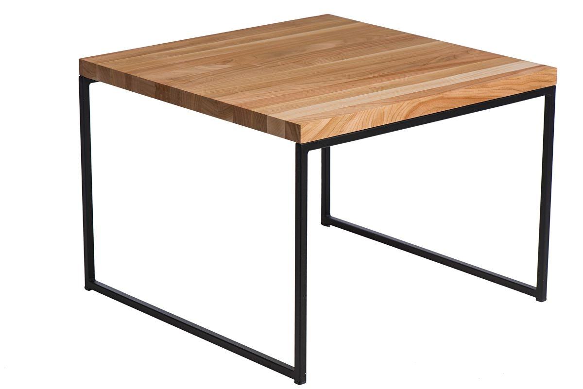 Konferenční stolek Kirse, 60 cm, třešeň/černá