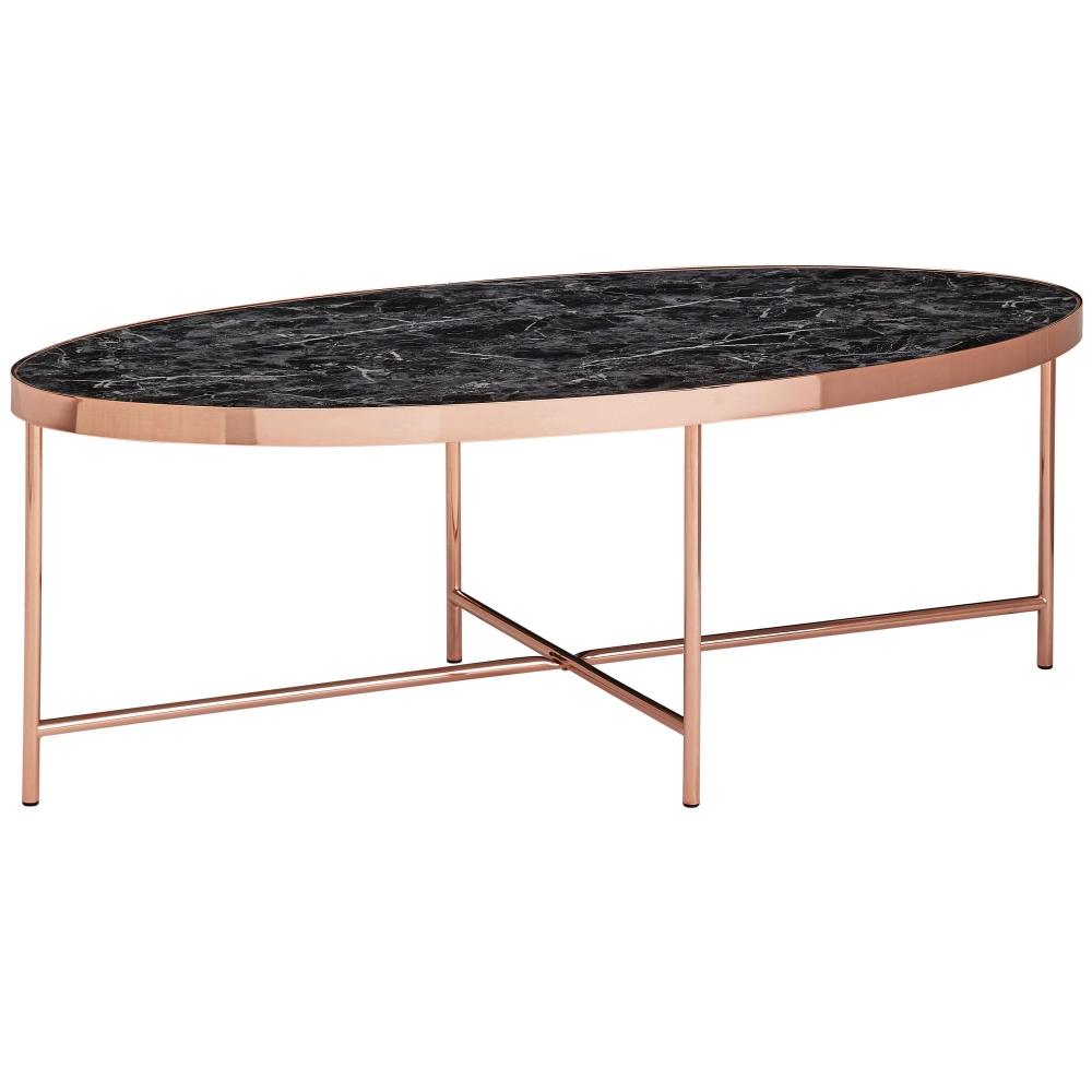 Konferenční stolek Kirst, 110 cm, černý mramor