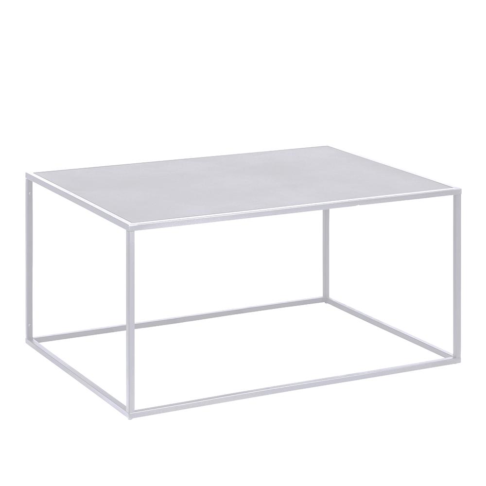 Konferenční stolek kovový Lyfte 2, 90 cm, bílá