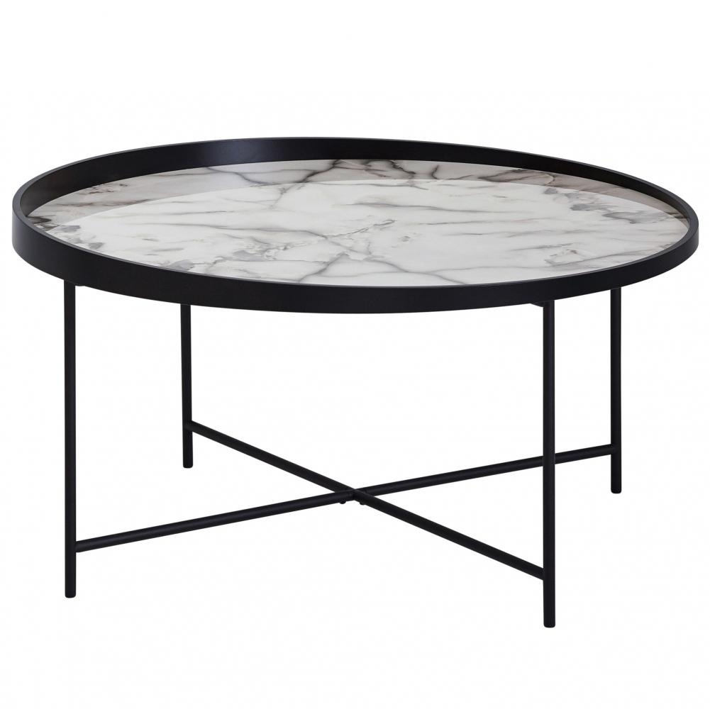 Konferenční stolek Krist, 76 cm, mramor