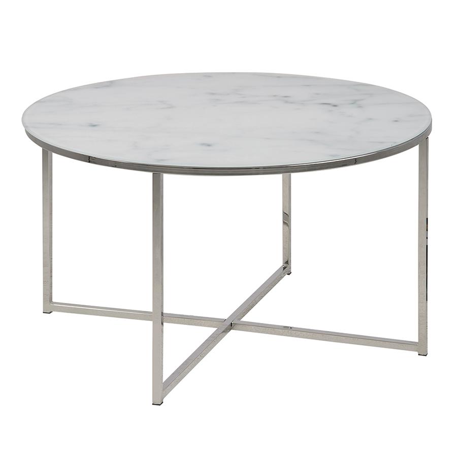 Konferenční stolek kulatý Alma, 80 cm, chrom