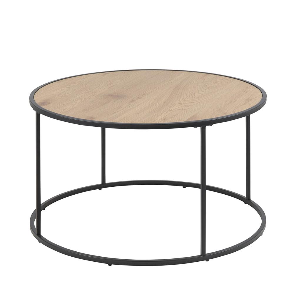 Konferenční stolek kulatý Seashell, 80 cm, dub