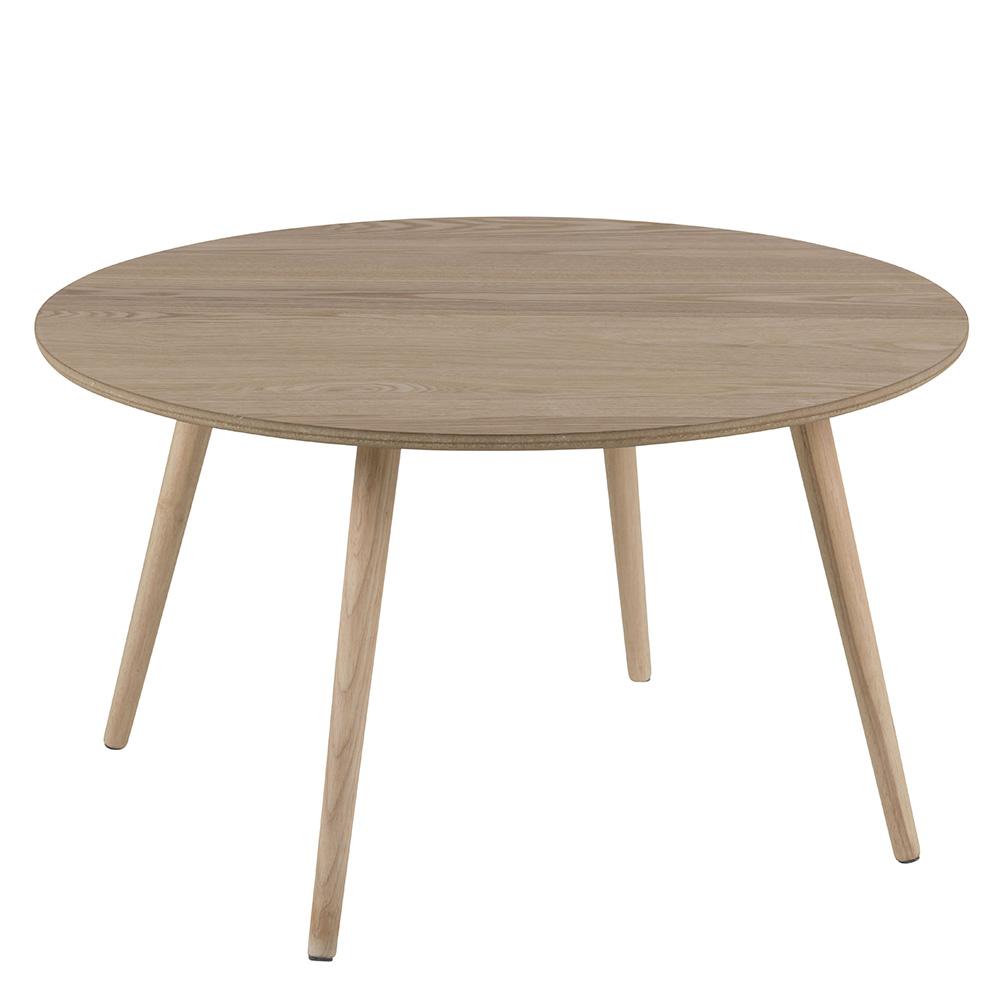 Konferenční stolek kulatý Stanfield, 80 cm, jasan