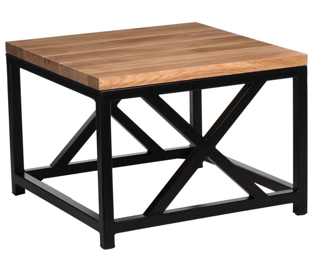 Konferenční stolek Kvist, 45 cm, dub/černá