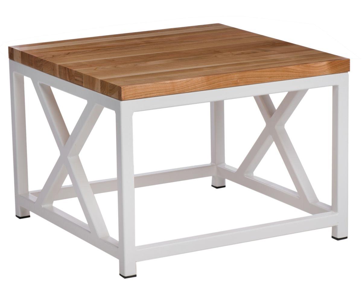 Konferenční stolek Kvist, 45 cm, třešeň/bílá