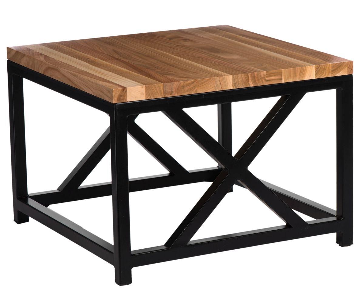 Konferenční stolek Kvist, 45 cm, třešeň/černá