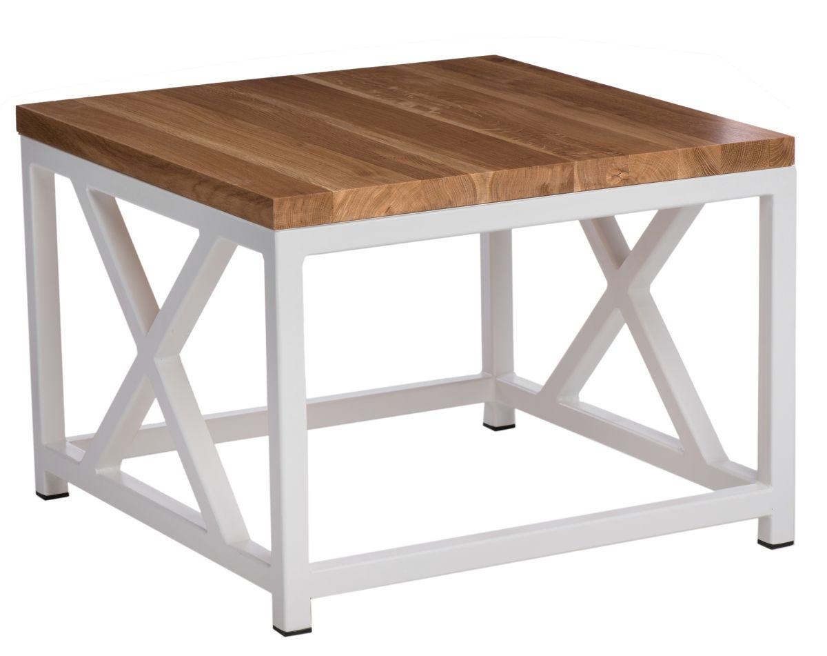 Konferenční stolek Kvist, 60 cm, dub/bílá