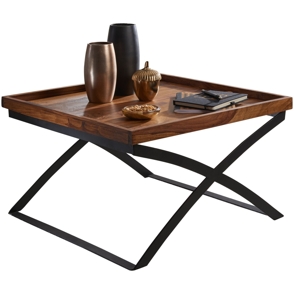 Konferenční stolek Lea, 63 cm, masiv Sheesham