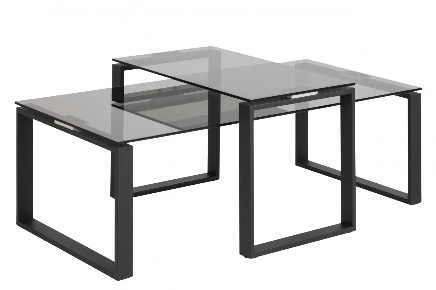 Konferenční stolek Leila, 115 cm, černá